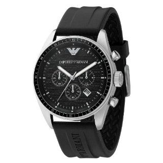 Emporio Armani Watch, Mens Chronograph Black Rubber Strap AR0527