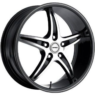 Strada Riga 22 Black Wheel / Rim 5x115 with a 40mm Offset and a 74.1