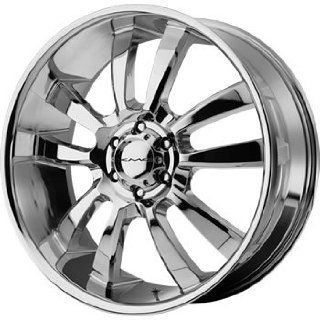 KMC KM673 18x8 Chrome Wheel / Rim 6x135 with a 35mm Offset and a 87.10