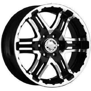 Gear Alloy Double Pump 18x9 Black Wheel / Rim 5x5.5 with a 10mm Offset