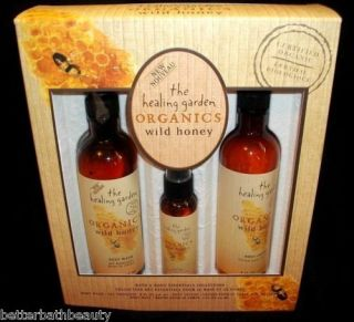 The Healing Garden Wild Honey 3 Piece Gift Box Set