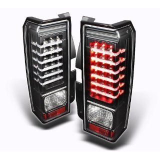 Hummer H3 2006 2007 2008 2009 LED Tail Lights   Black
