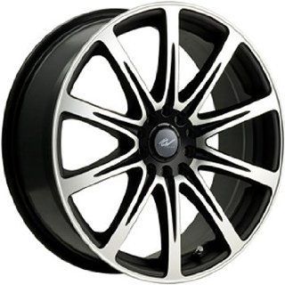 ICW Euro 18x8 Machined Black Wheel / Rim 5x112 & 5x120 with a 35mm