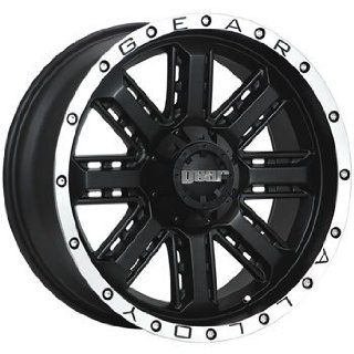 Gear Alloy Nitro 20x9 Black Wheel / Rim 6x5.5 & 6x135 with a 18mm