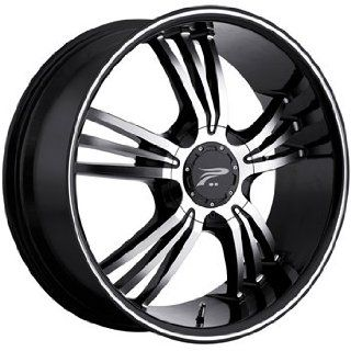 Platinum Wolverine 17x8 Black Wheel / Rim 5x4.5 & 5x120 with a 32mm