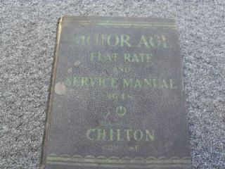1948 Chiltons Motor Age Flat Rate and Service Manual