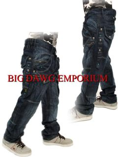 Peviani Bar Stud Roll Mens Jeans Time Is Hip Hop G Money Star