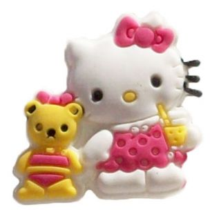 Hello Kitty Bear Jibbitz Style Shoe Charm Crocs or Shoe Laces Adapter