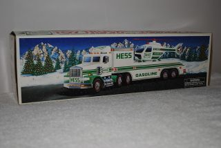 Hess collectible toy truck 1995 model Truck Helicopter NM original box