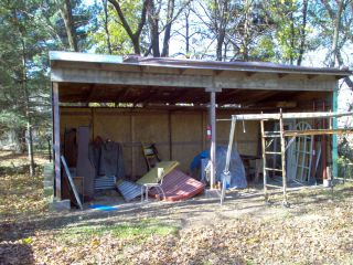 Steel frame 12x12x24 Building Horse Hay Barn Shed horse stall