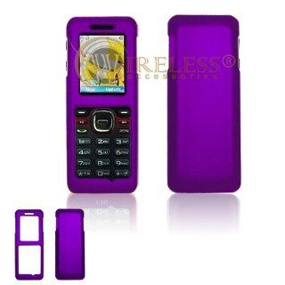 Purple Rubberized Hard Case Snap On Protector Cover for