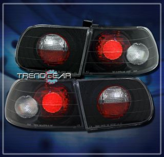 92 95 Honda Civic 3DR altezza Brake Tail Lights Black Hatchback 93 94