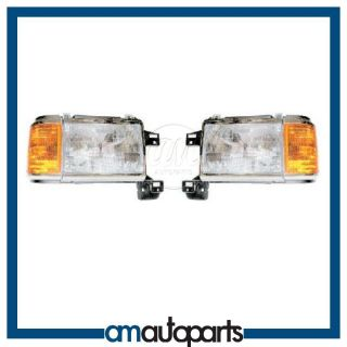 Bronco Pickup Truck F150 F250 Headlights Headlamps Pair Set
