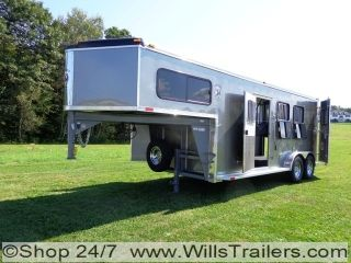 Homesteader 3 Horse Trailer Aluminum Slant Skin $184 Monthly No Hidden