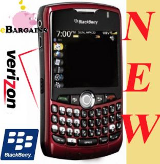 red rim Blackberry Curve 8330 Cell phone Verizon Pageplus NO CONTRACT