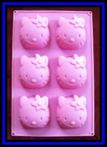 new silicone hello kitty cupcake muffin pan 6 mold