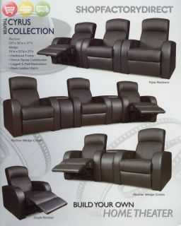 Home Theater Seating Individual Chairs Leather Seats