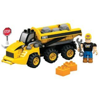 Mega Bloks CAT Articulated Dump Truck Toys & Games