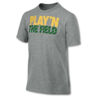 Kids Nike Field Tee Shirt Dark Grey Heather
