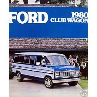 1980 Ford Club Wagon vehicle brochure