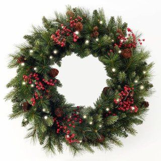 48 Pre Lit Canadian Pine Artificial Christmas Wreath