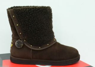 by Guess Anya Brown Fashion Boots Faux Fur Winter Womens Sz 8