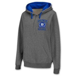 Duke Blue Devils Half Zip NCAA Womens Hoodie Grey