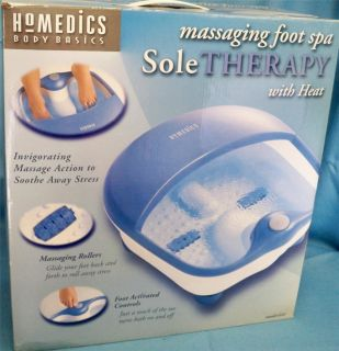 HoMedics Body Basics Massaging Foot Spa In Original Box Heat Vibration