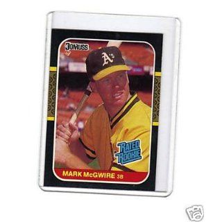 1987 MARK MCGWIRE CARD DONRUSS #46 OAKLAND AS Everything