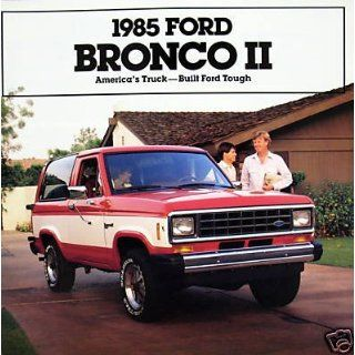 1985 Ford Bronco II SUV vehicle brochure