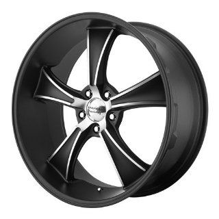 22x11 American Racing BLVD (Satin Black / Machined) Wheels/Rims 5x120