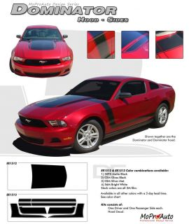 Boss Ford Mustang Hood Side Stripes Graphic Decals 2012