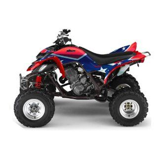 AMR Racing Yamaha Raptor 660 ATV Quad Graphic Kit   Rebel Red, White