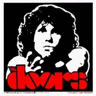 The Doors   Jim Morrison High Contrast American Poet Shot with Logo in