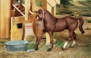 Breyer Horses Traditional Horse Stable Feed Set 1 9 Scale New 2486