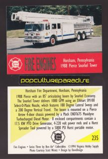 Snorkel Tower 85 Ladder Fire Truck Engine Card Horsham PA