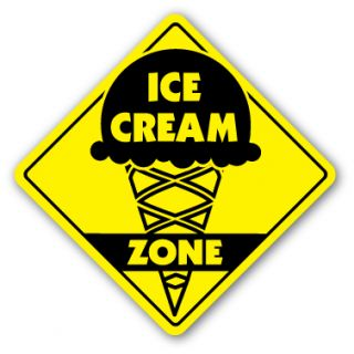 Ice Cream Zone Sign Shop Scooper Parlor Neon Signs