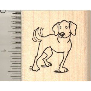 Happy Three Legged Dog Rubber Stamp Arts, Crafts & Sewing
