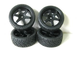 HPI Nitro RS4 3 EVO Black 6 Spoke Wheels Tires Foam