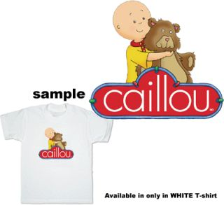 Caillou Hug Teddy Bear Child Kids Boy Girl T Shirt