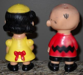 Vintage 1958 Hungerford Lucy and Charlie Brown Dolls Snoopy Peanuts
