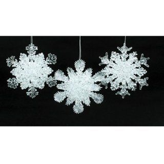 Club Pack of 24 Ice Palace Frosted Glittery Snowflake