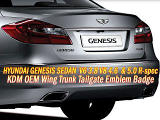 09 12 Hyundai Genesis Sedan V6 V8 R Spec Trunk Tailgate Winged Emblem