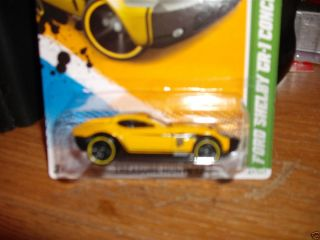 Hot Wheels Treasure Hunt Ford Shelby CR 1 Concept on Long Card