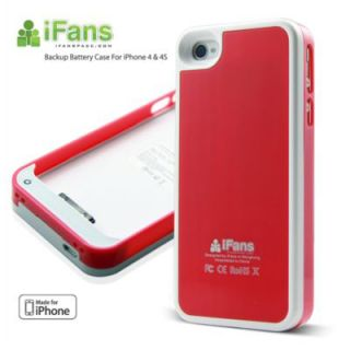Ifans 1450mAh Metal Wiredrawing Battery Case Charger Case for iPhone 4