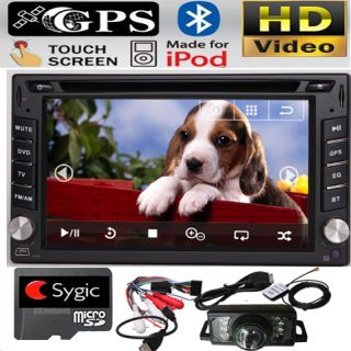 Promo Double DIN 6 2 in Dash Car DVD Player GPS Voice Navigation Navi