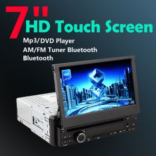 High Def 7 Single 1 DIN in Car Stereo DVD Player Bluetooth