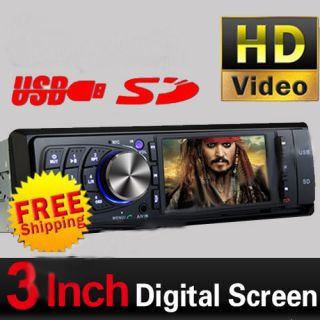 DIN 3 in Dash Touch Screen Car Stereo DVD CD  Player Radio
