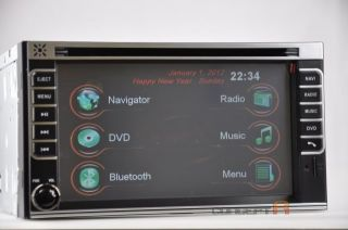 DVD GPS Navigation Radio Touch Screen 2 DIN in Dash Deck Player