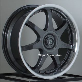 17 inch Wheels Rims Motegi Racing FF7 Gunmetal 4 lug 4x100 4x114 3